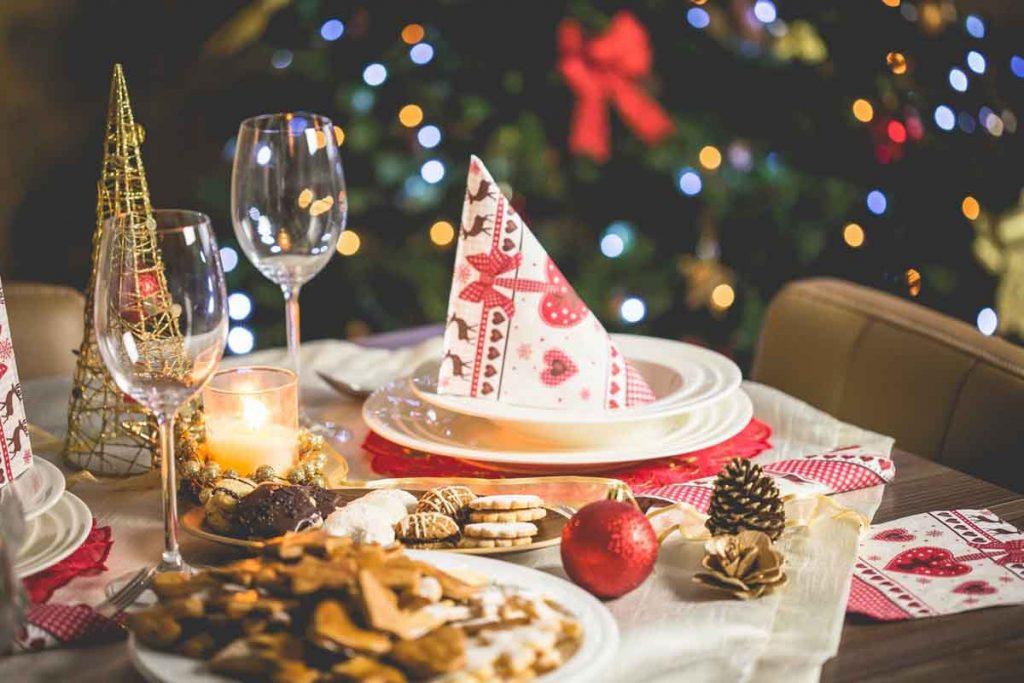 Un menú navideño sin lactosa