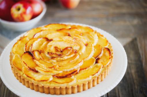 Tarta de manzana sin lactosa casera