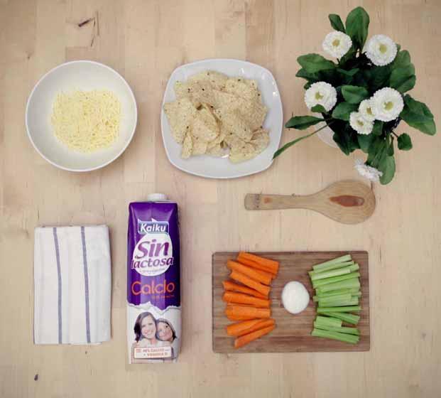 Ingradientes para recetas Kaiku Sin Lactosa