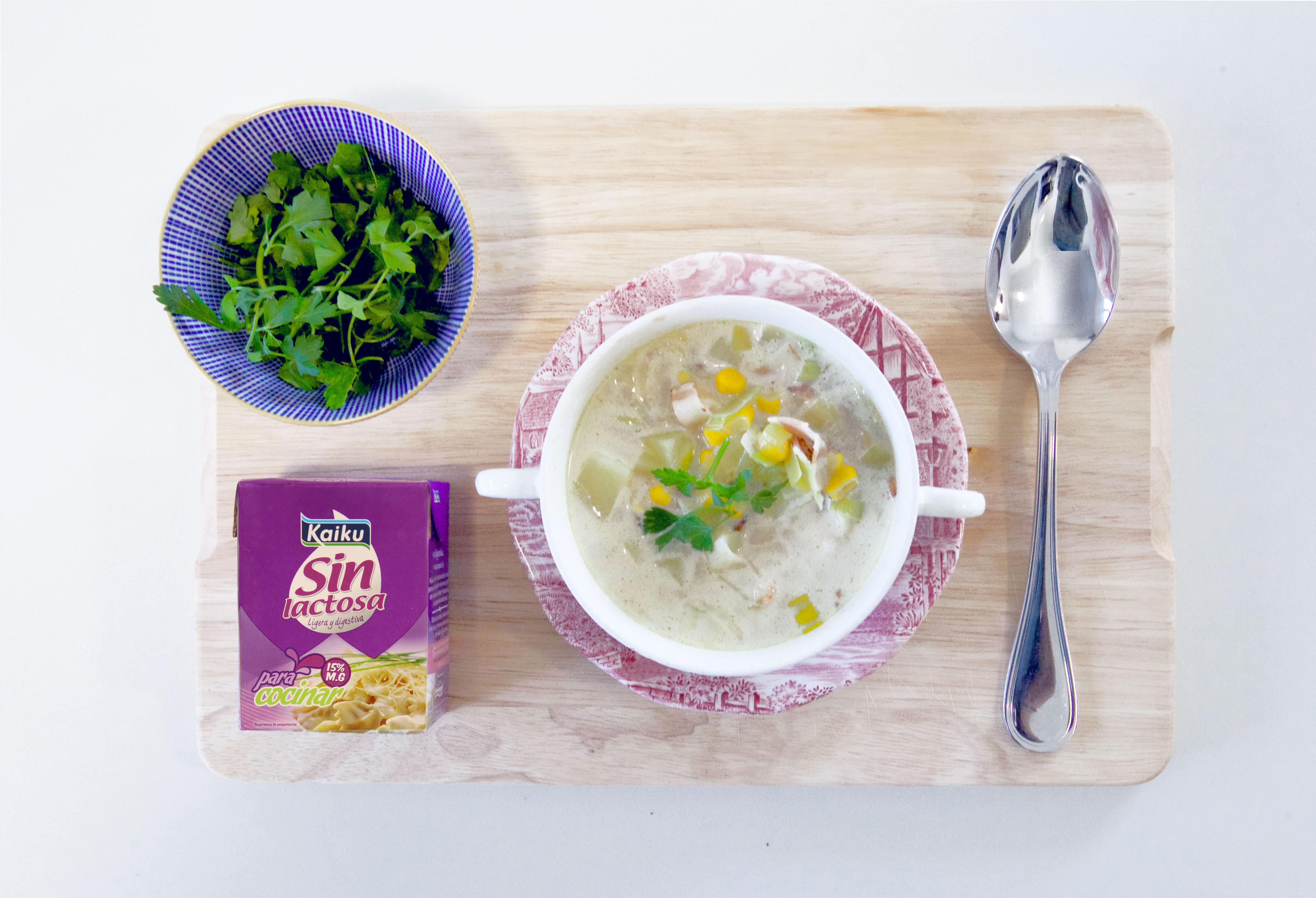 Recetas sin lactosa: sopa de gamas