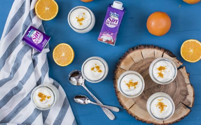 Cocina fácil: mousse sin lactosa con naranja
