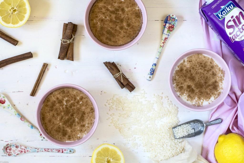 ingredientes receta arroz con leche sin lactosa
