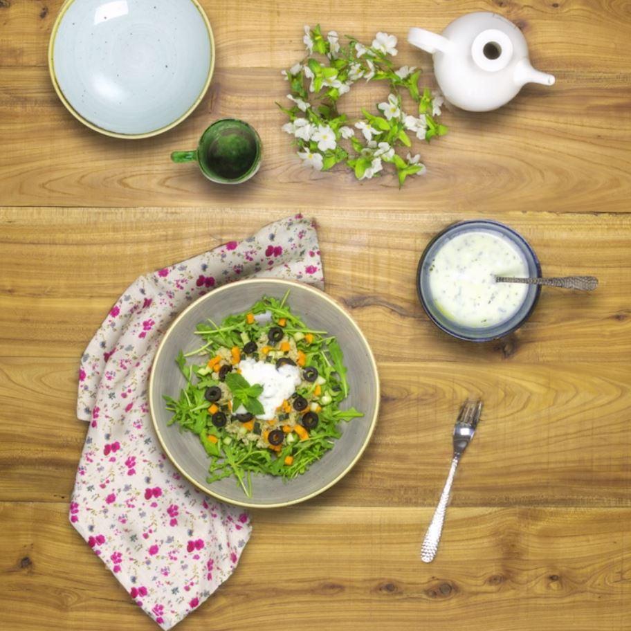 Ensalada de quinoa - Receta Kaiku Sin Lactosa