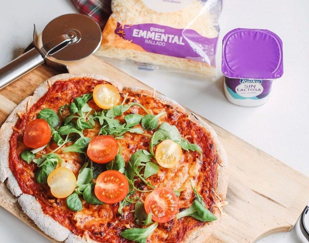 Pizza sin lactosa: receta ligera de Kaiku Sin Lactosa