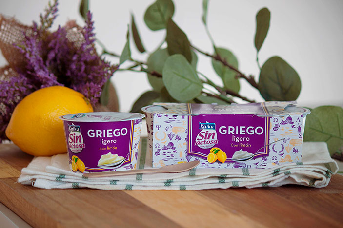 yogur griego natural: yougures sin lactosa