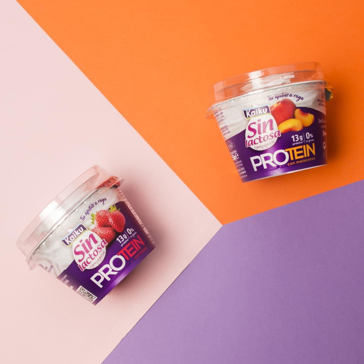 Kaiku Sin Lactosa Protein, yogurt sin lactosa