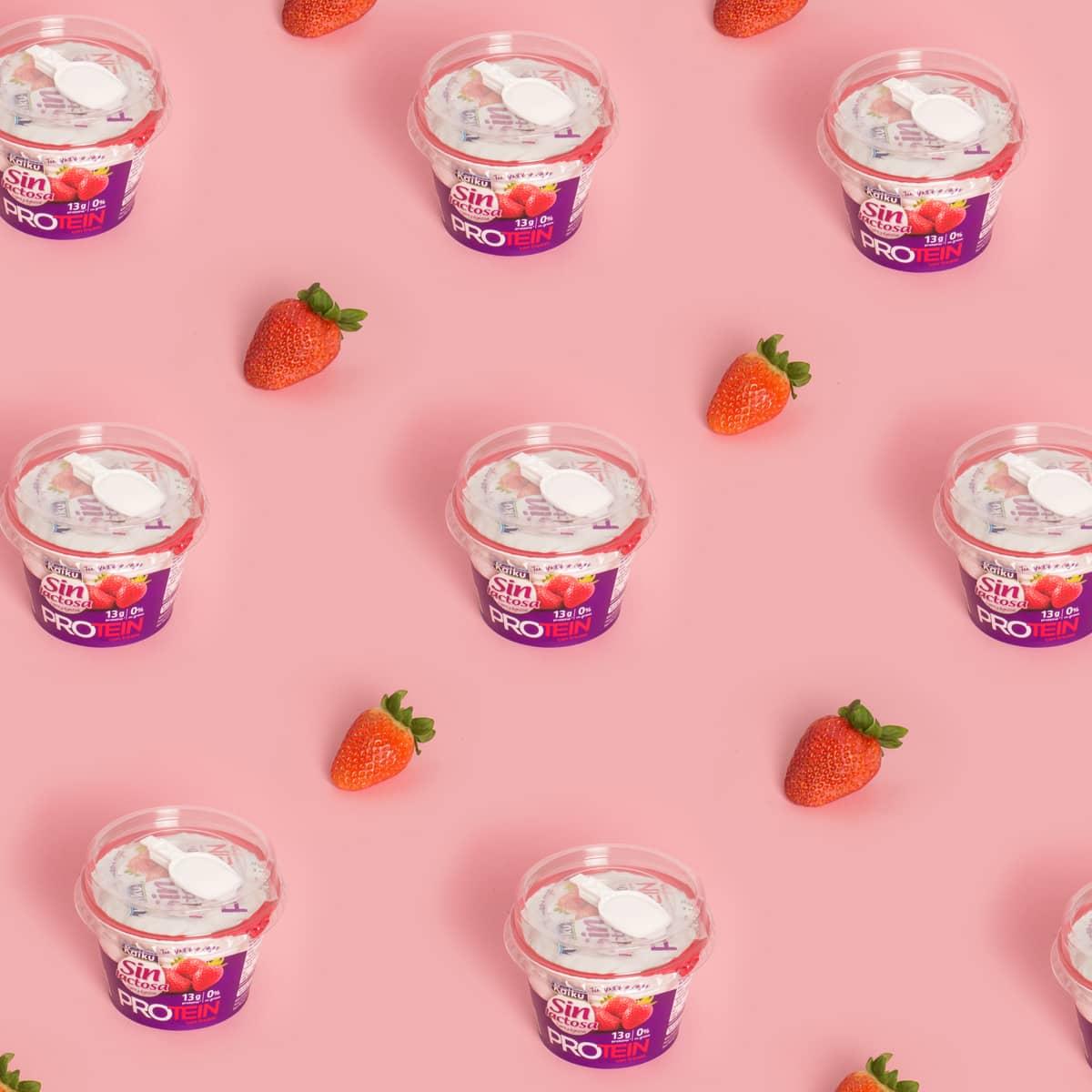Yogures sin lactosa Kaiku con proteínas