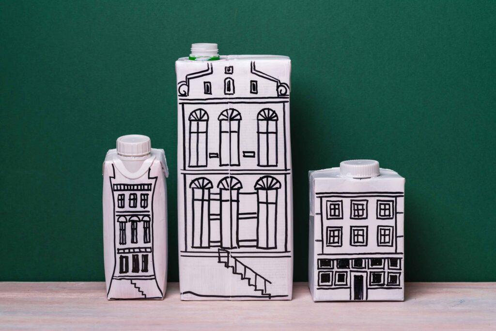 Manualidades con cartones de leche para hacer con niños