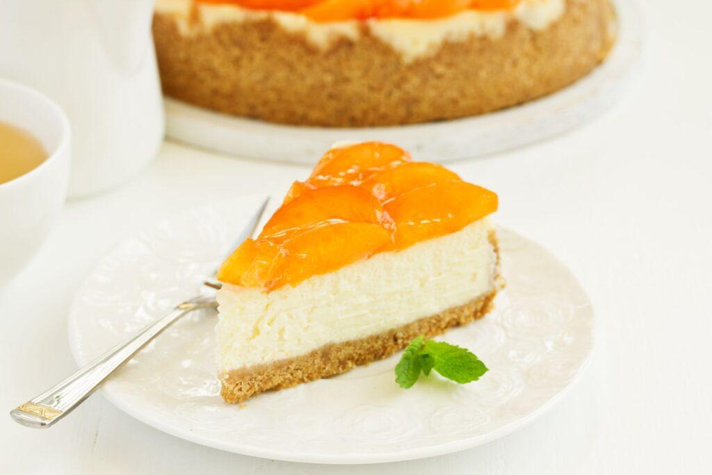 tarta de yogur y nectarina