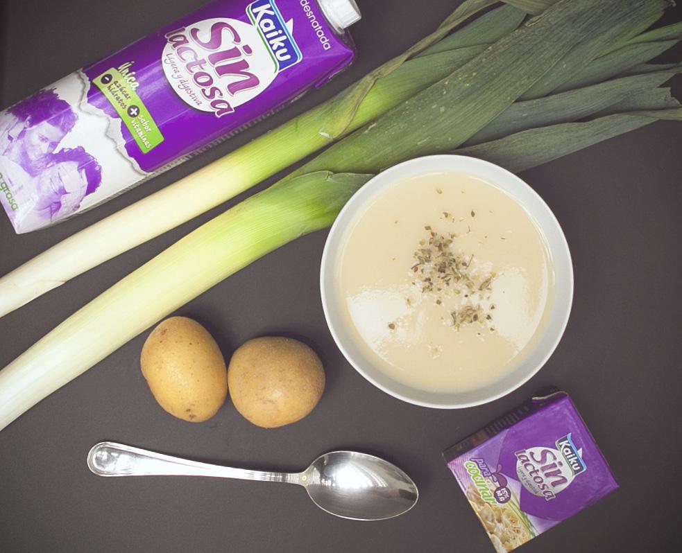 como hacer vichyssoise sin lactosa