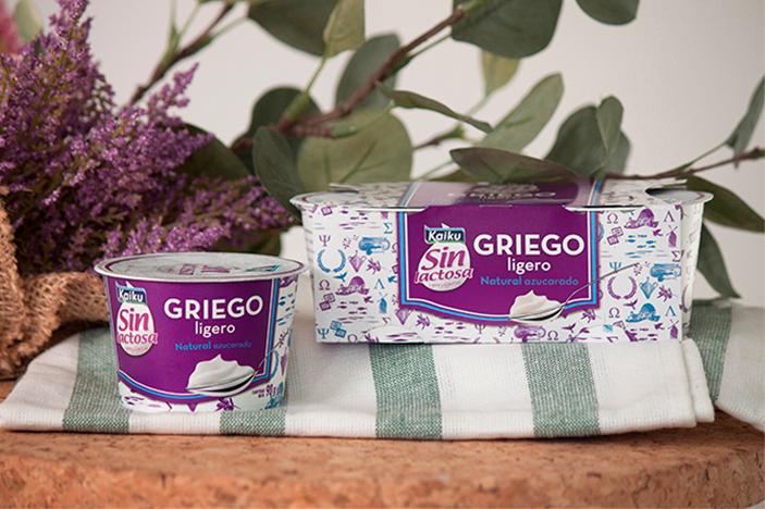 Yogur griego sin lactosa Kaiku